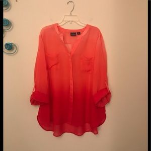 COVINGTON Woman Coral/Red Ombre Top